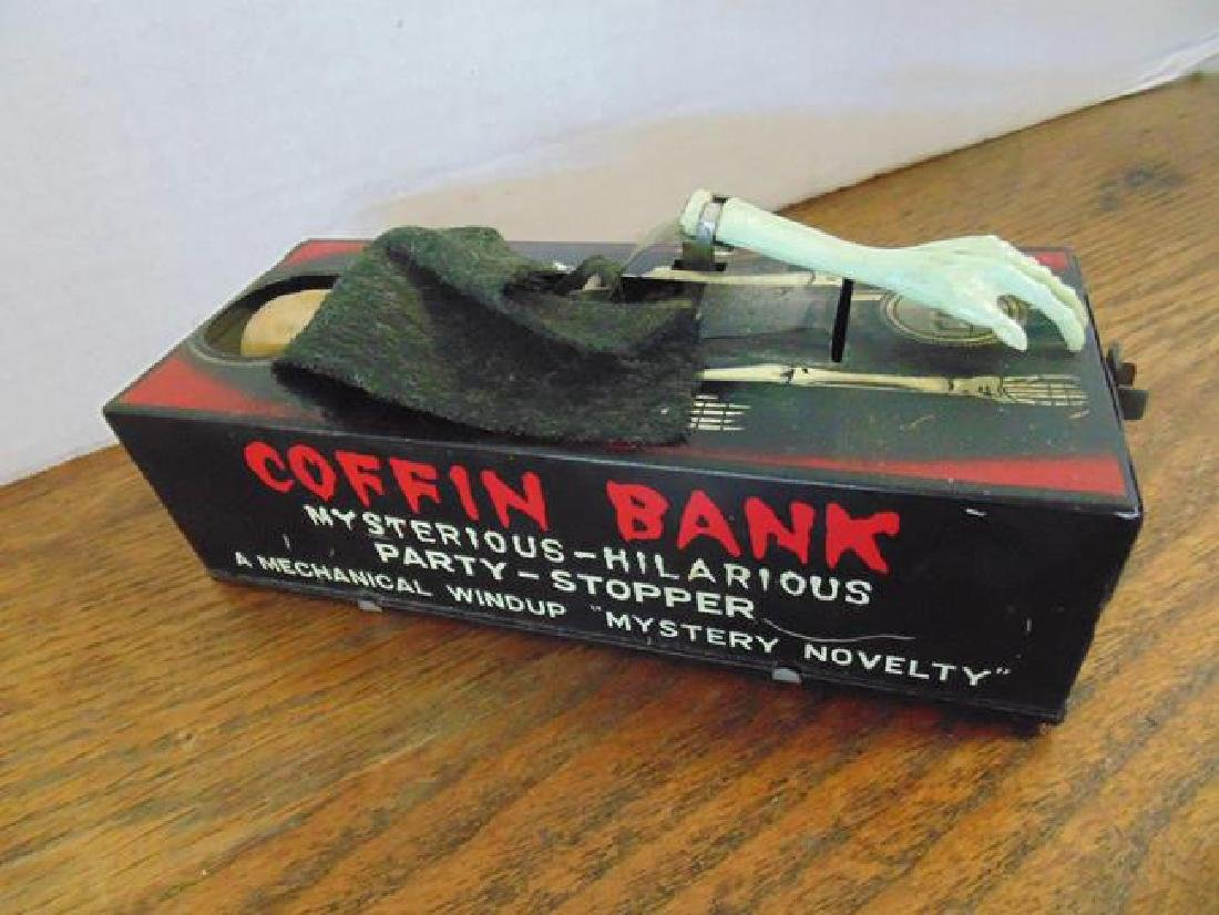 Tin Mechanical Coffin Bank