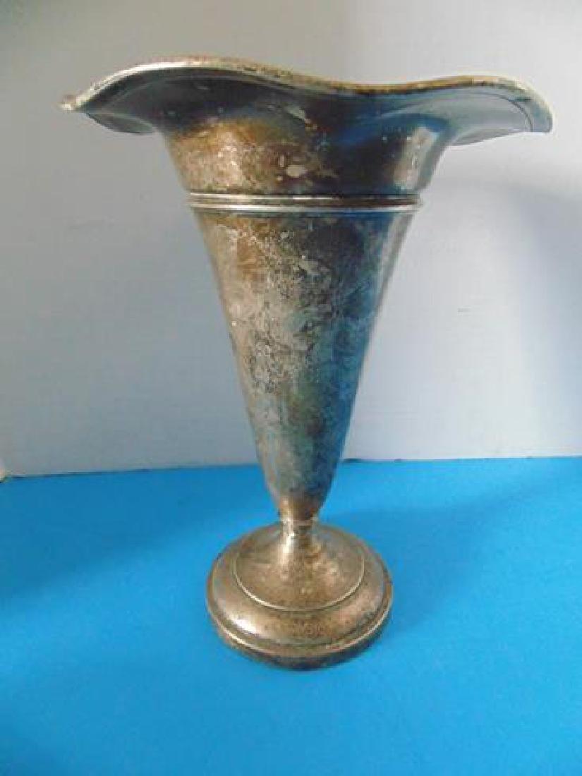 Sterling Silver Fluted Vase
