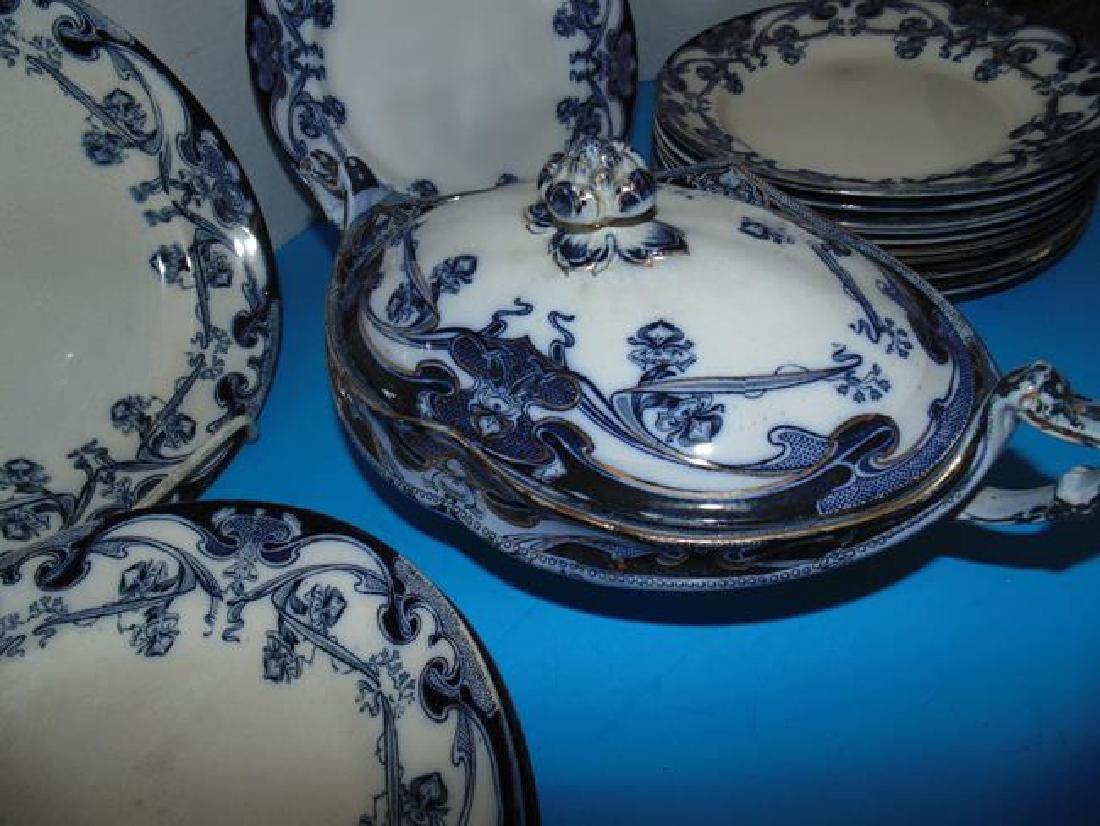 Staffordshire Iris Plates & Serving Bowl - 2