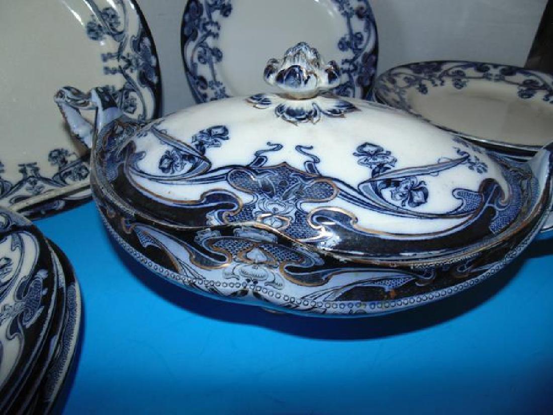 Staffordshire Iris Plates & Serving Bowl - 3