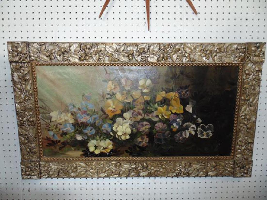 Victorian Pansy Still Life Painting