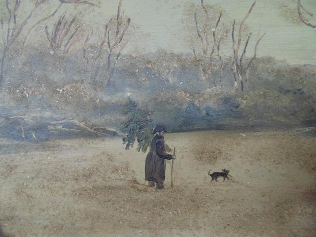 Victorian Winter Scene Oil Painting - 2