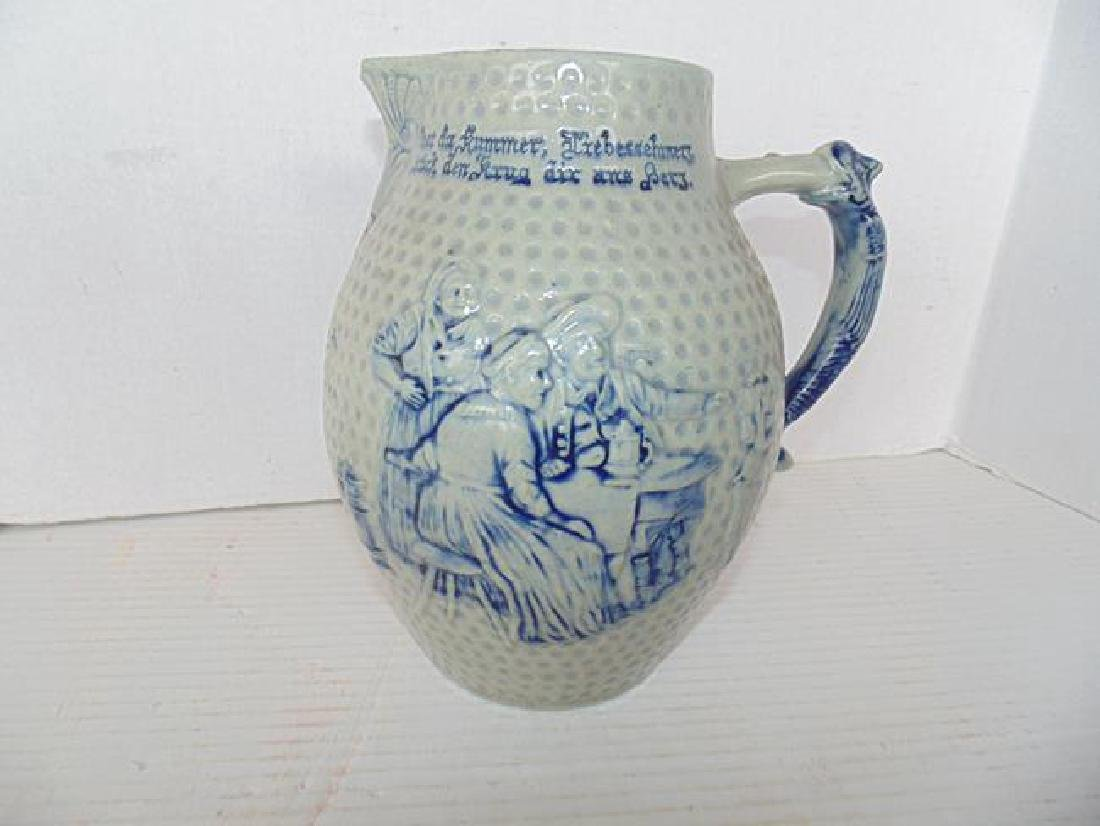 Salt Glaze  Prosit Beer Pitcher