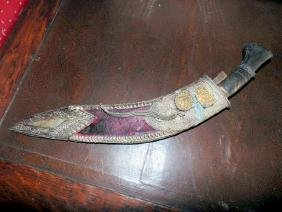 Middle Eastern Curved Knife & Sheath