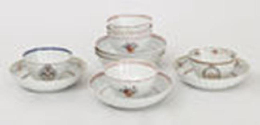 Set of 4 Chinese Export Famille Rose