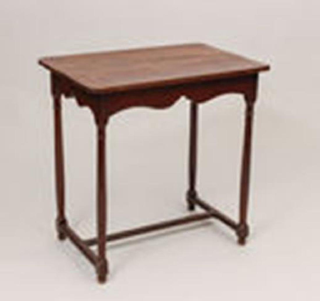 Continental Provincial Fruitwood Side Table