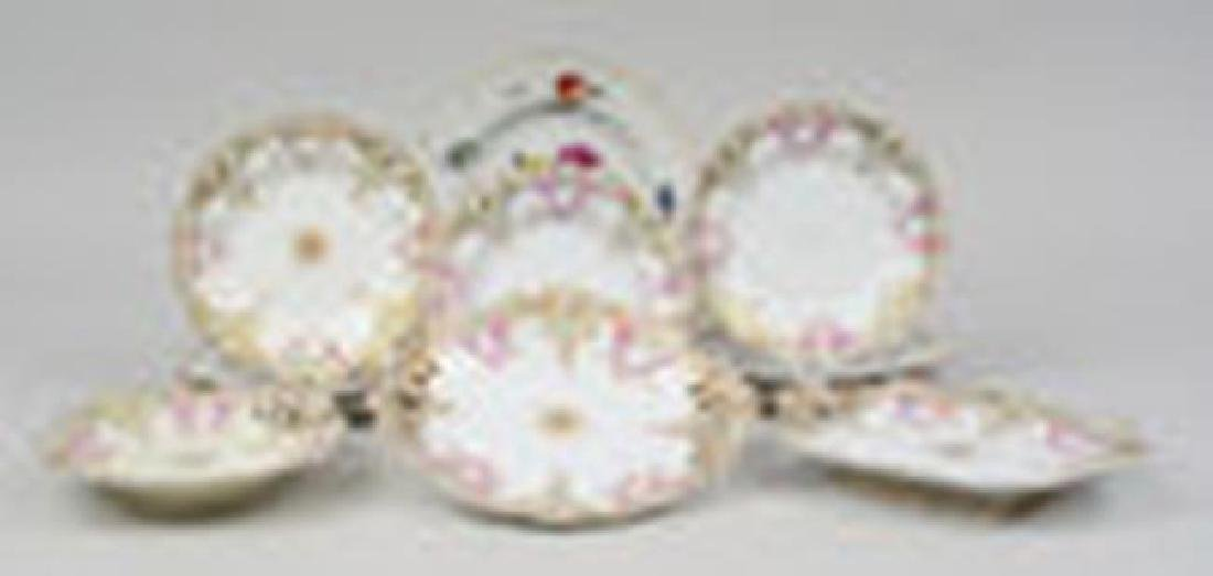 Set of 9 Victorian Cake Plates & 3 Footed Plates