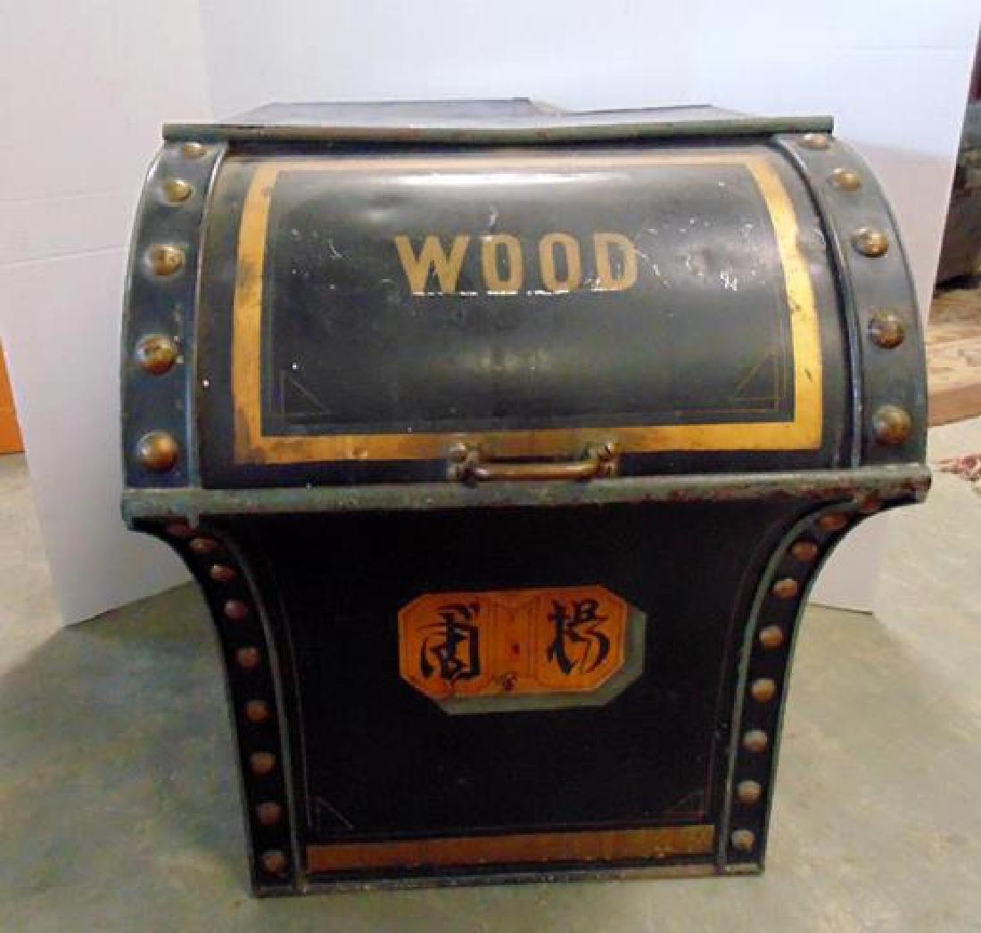 19thc Wood Bin
