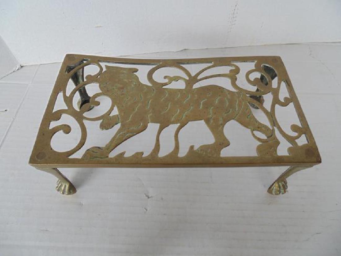 Brass Lion Trivet