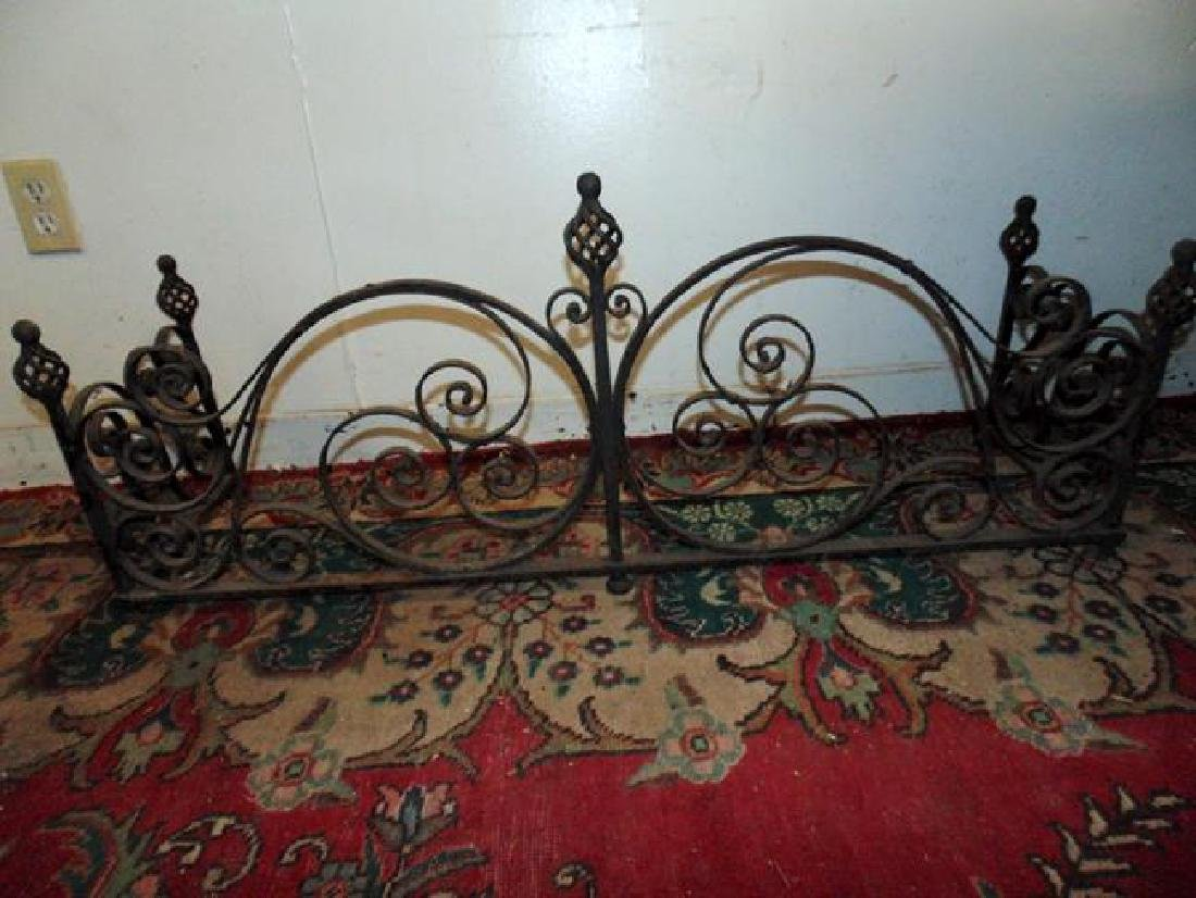 Wrought Iron Fireplace Fender