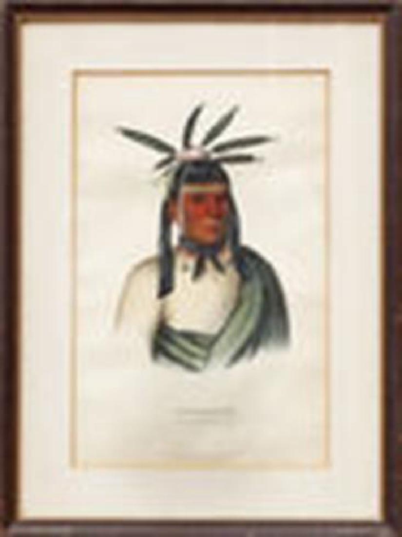 Amiskquew Menominie Warrior Indian Litho