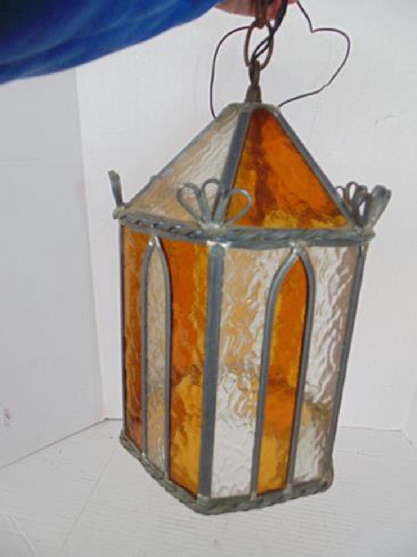 Hanging Amber/Clear Lamp