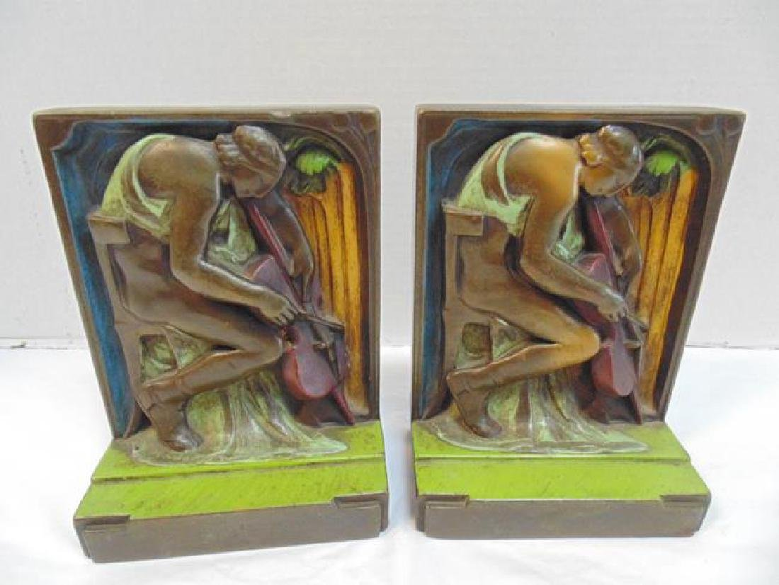 Pompeian Bronze Clad Bookends