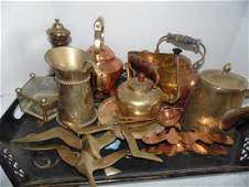 Tray Lot of Copper Items