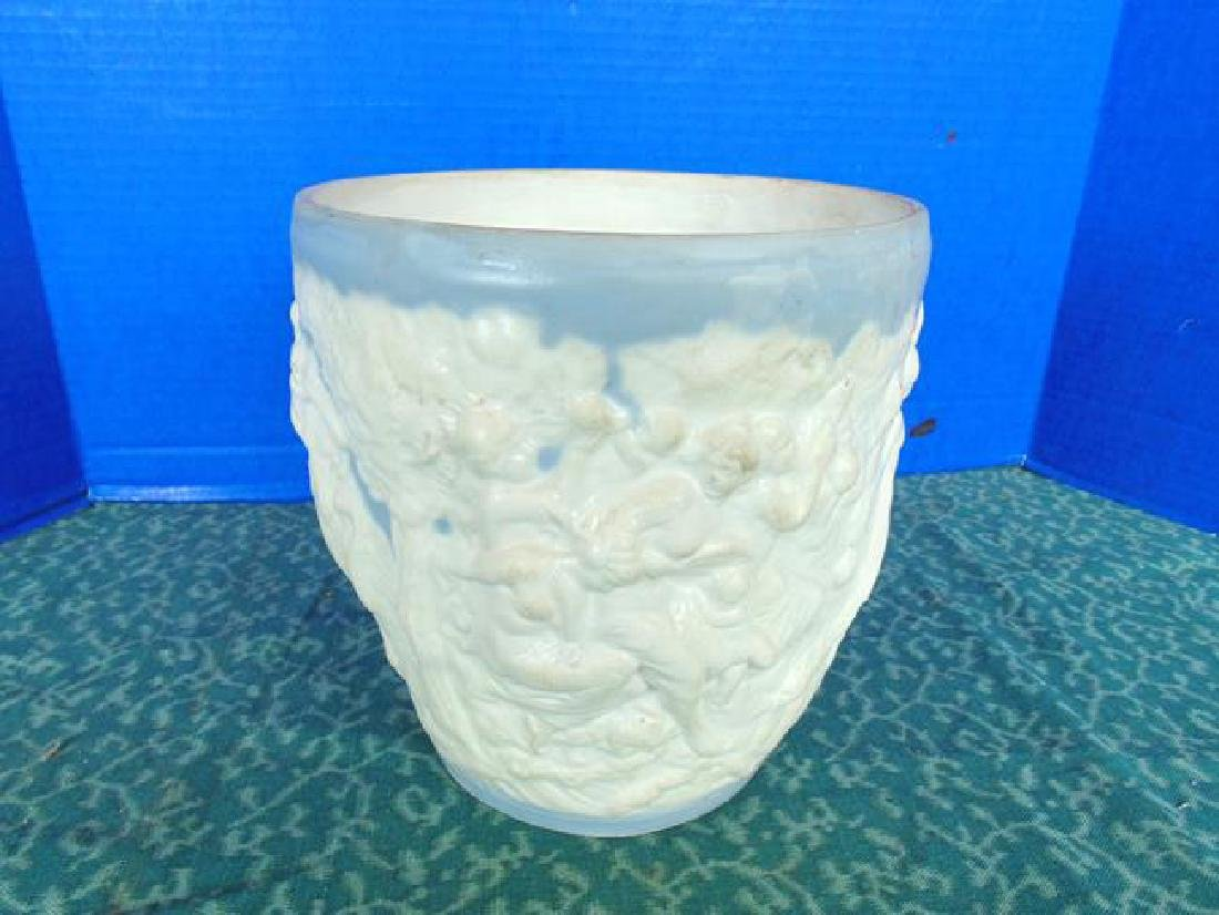 Blue and White Figural Vase