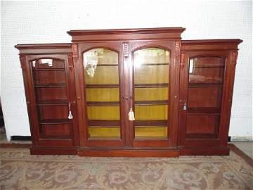 Victorian Triple Door Bookcase
