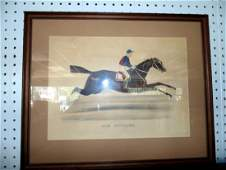 Tom Bowling Currier  Ives Horse Print