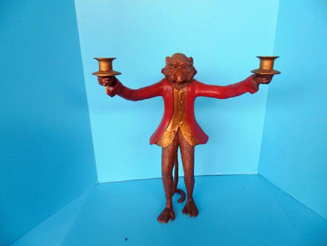 Composition Monkey Candlestick