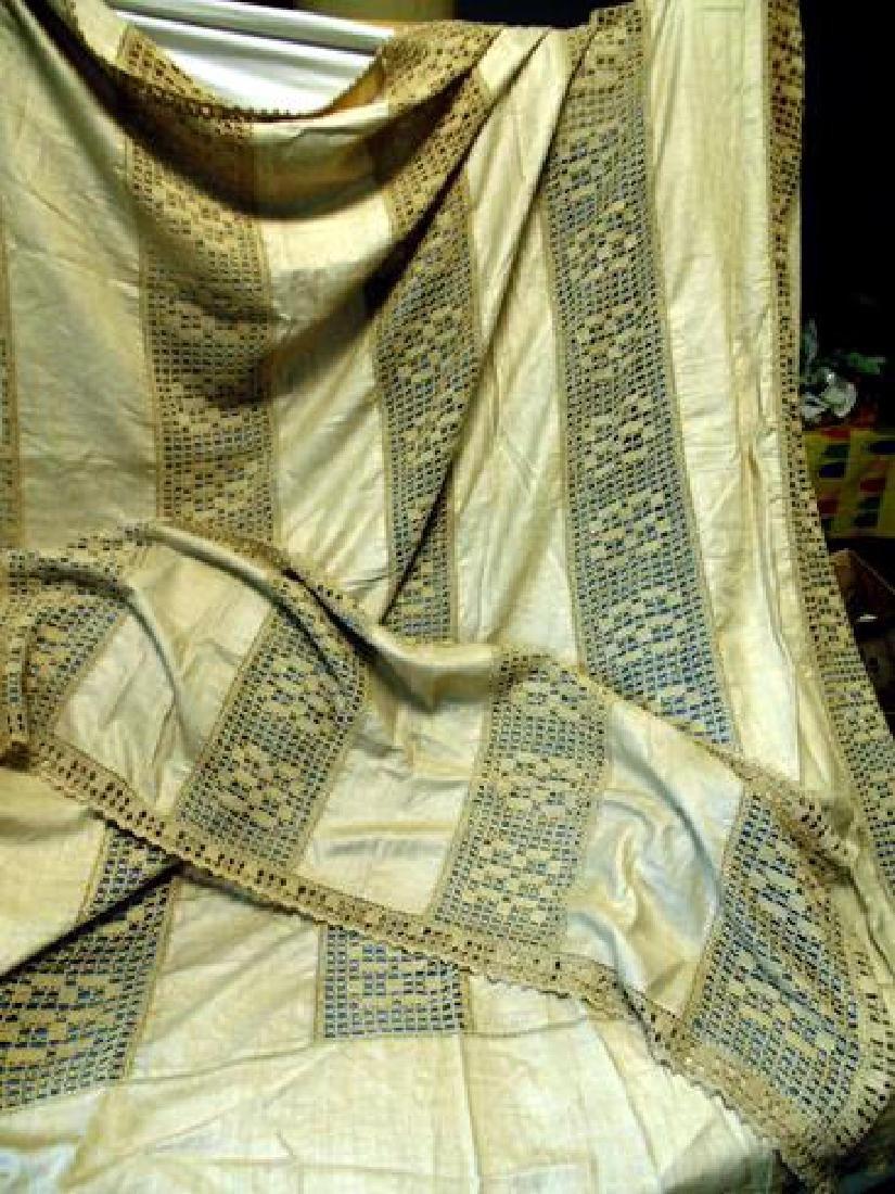 Hand Crocheted Bedspread & Sham