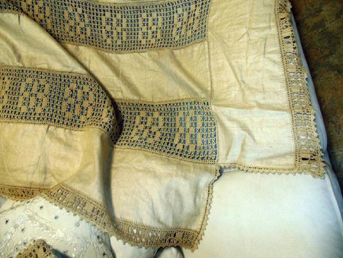 Hand Crocheted Bedspread & Sham - 2