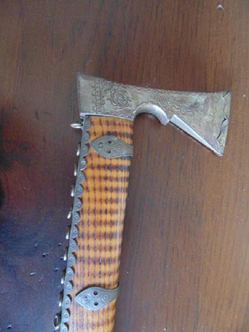 Cane With Hatchet Handle - 4
