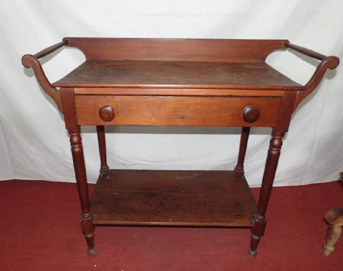 19thc One Drawer Washstand