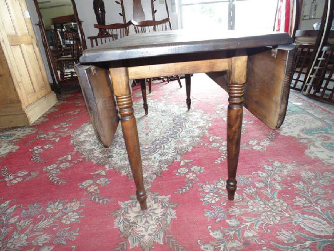 Long Country Drop Leaf Table - 2
