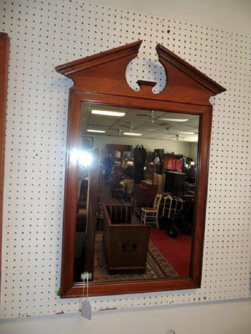 Pine Chippendale Style Mirror
