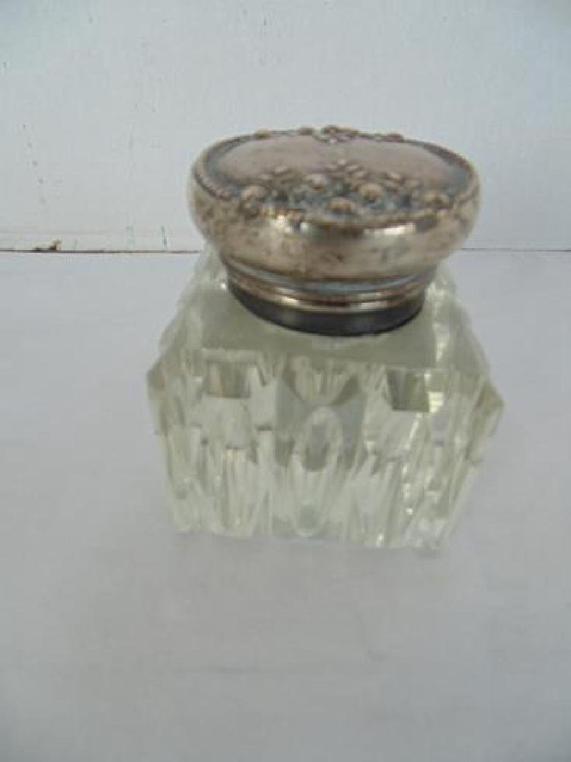 Inkwell with Sterling Top