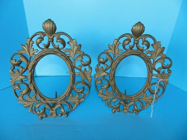 Oval Cast Iron Picture Frames