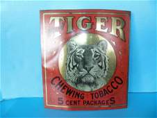 Tiger Chewing Tobacco Sign