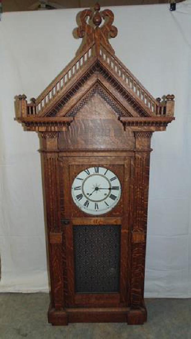Large Oak Wall Clock