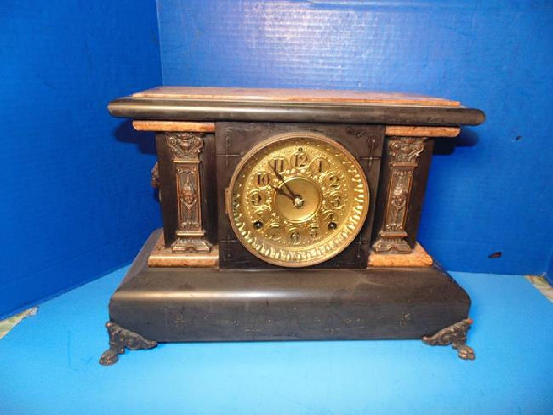 Seth Thomas Mantle Clock With Lion Heads
