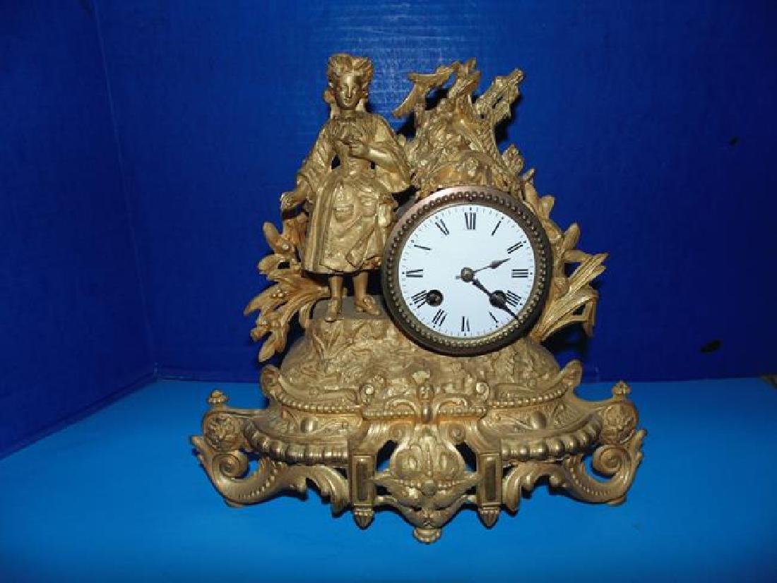 Gilt Figural Clock