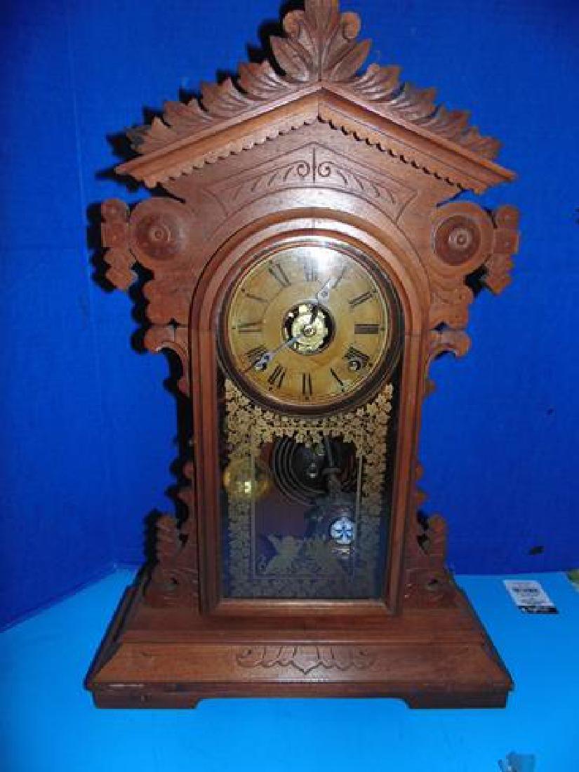 E.N. Welch Eclipse Movement Shelf Clock