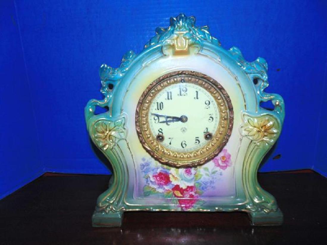Ansonia Porcelain Royal Bonn Clock