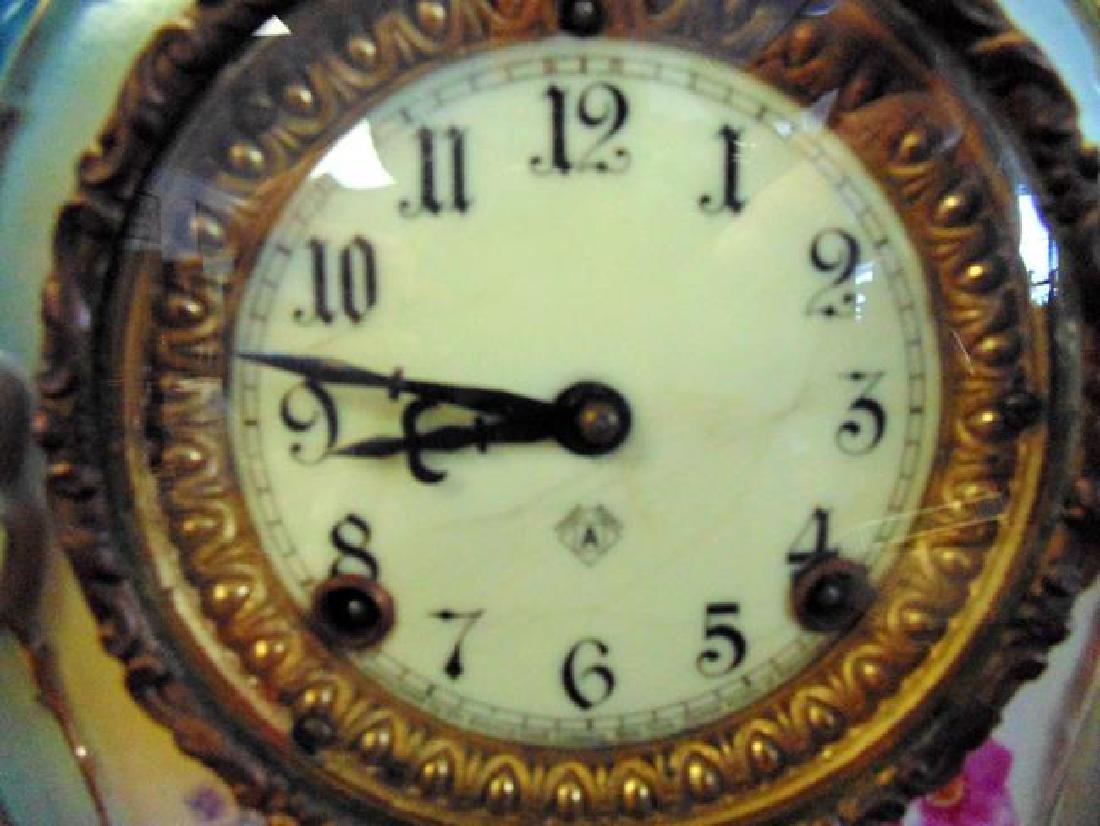 Ansonia Porcelain Royal Bonn Clock - 2