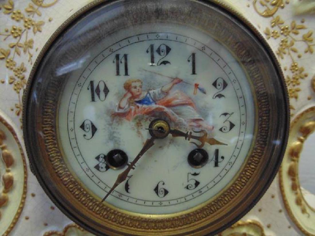 2 Ansonia Porcelain Clocks