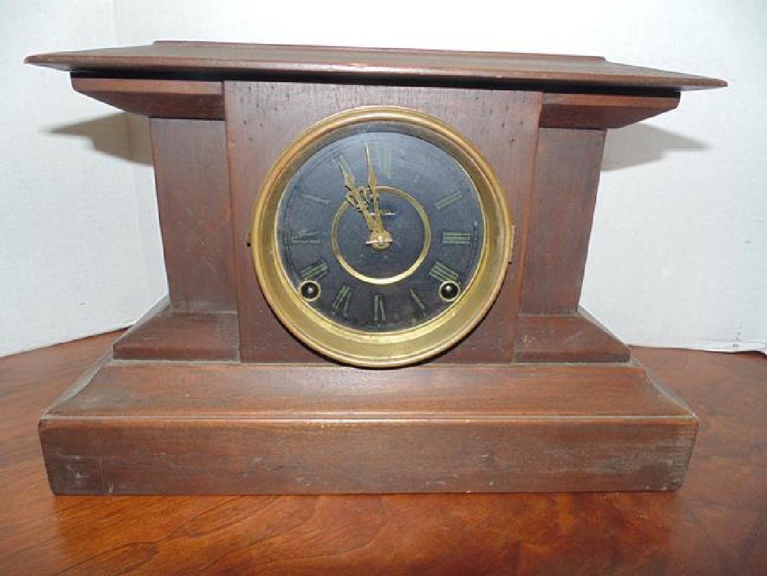 Ingraham Alamo Wood Mantle Clock