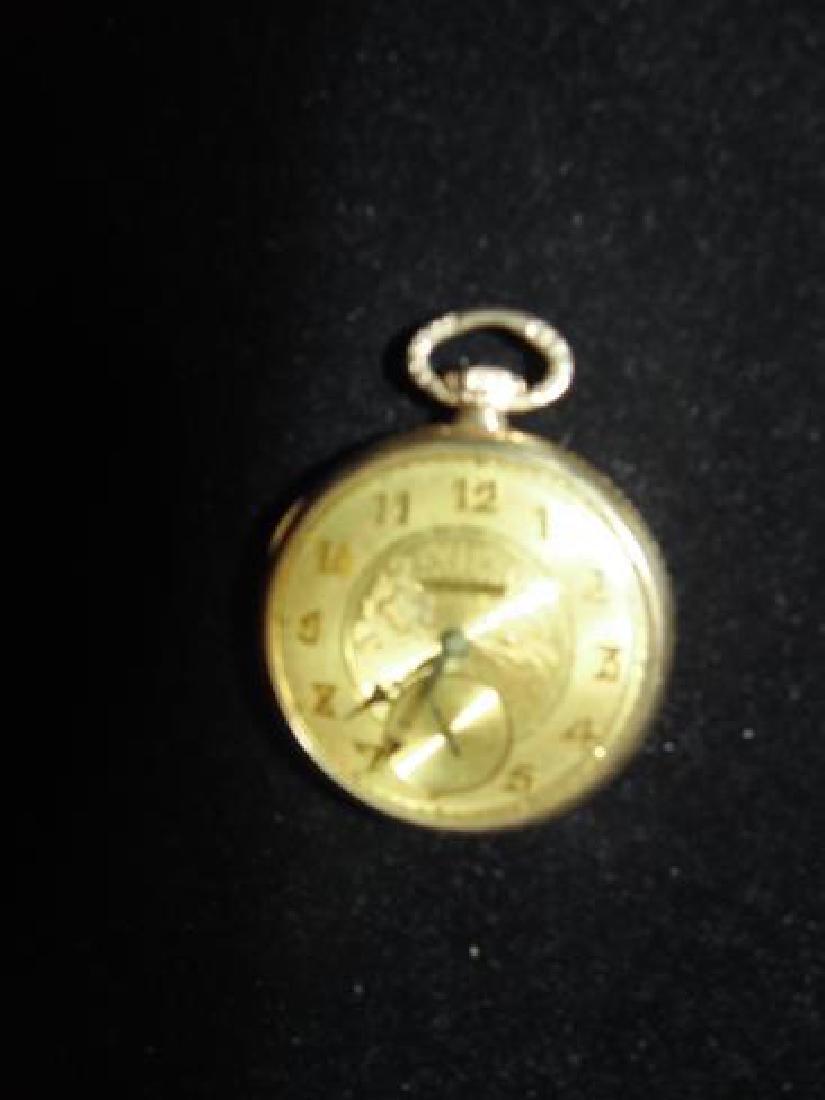 Duber 14K Gold Filled Pocket Watch - 2