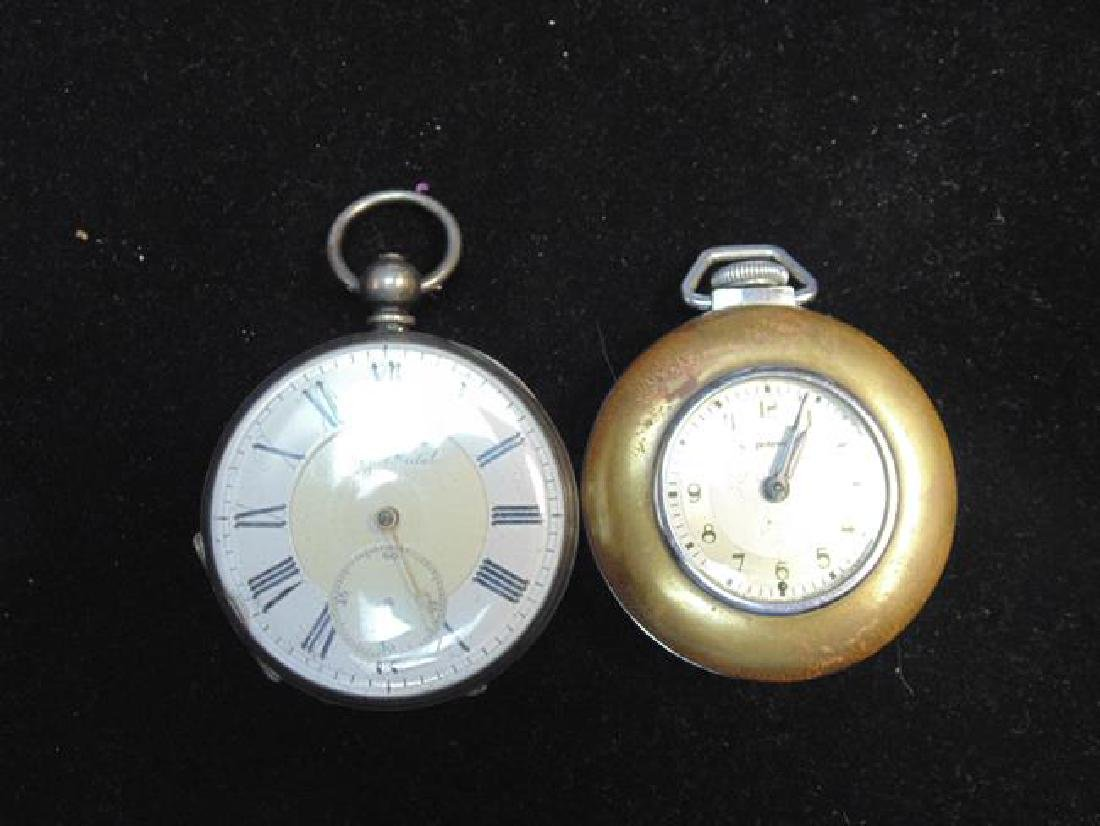 Exhibition Prize Metal and Ingraham Pocket Watches