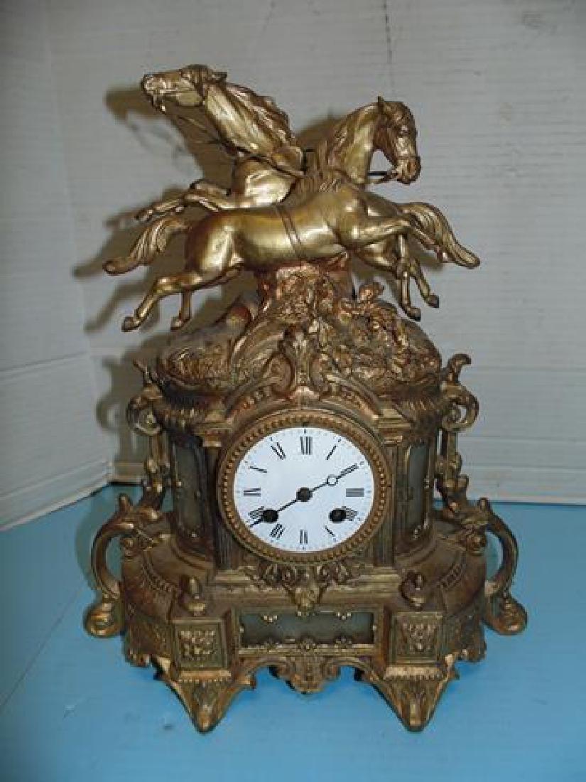 Horse Mantle Clock
