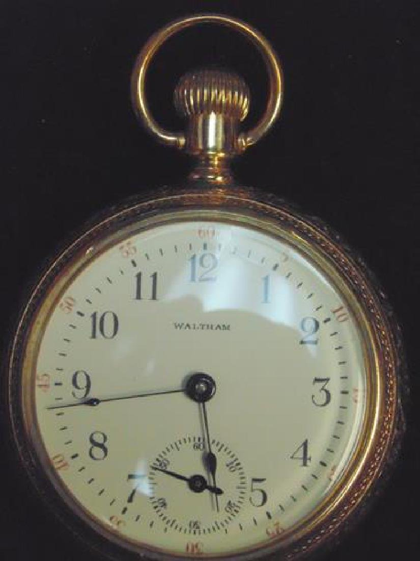 Waltham Gold Open Face Pocket Watch