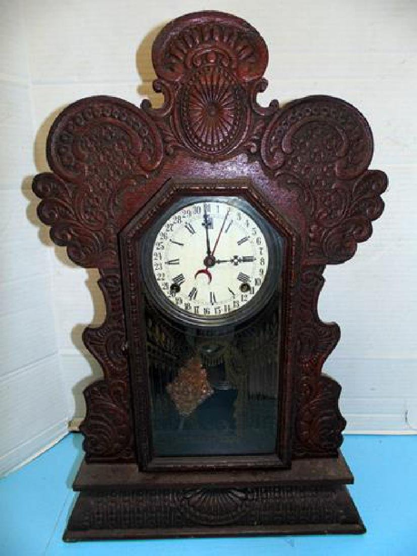 Oak Ingraham Calendar Clock Gila