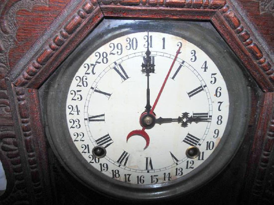 Oak Ingraham Calendar Clock Gila - 3