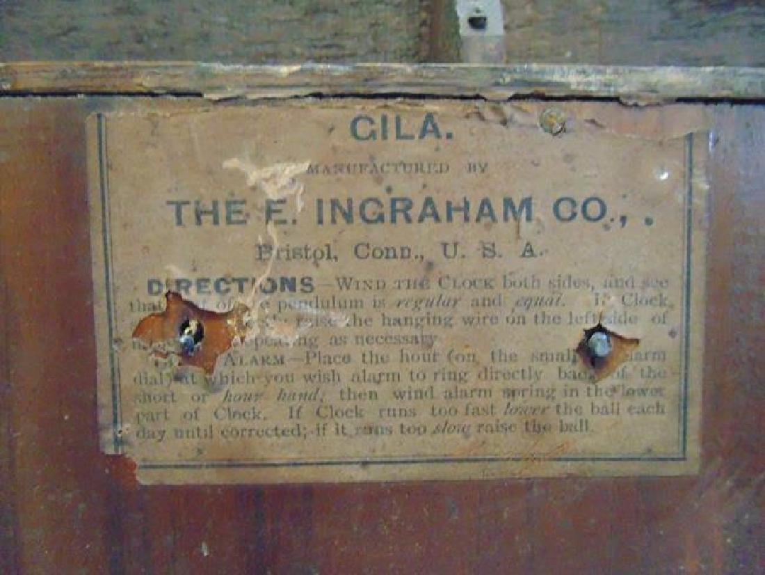 Oak Ingraham Calendar Clock Gila - 4