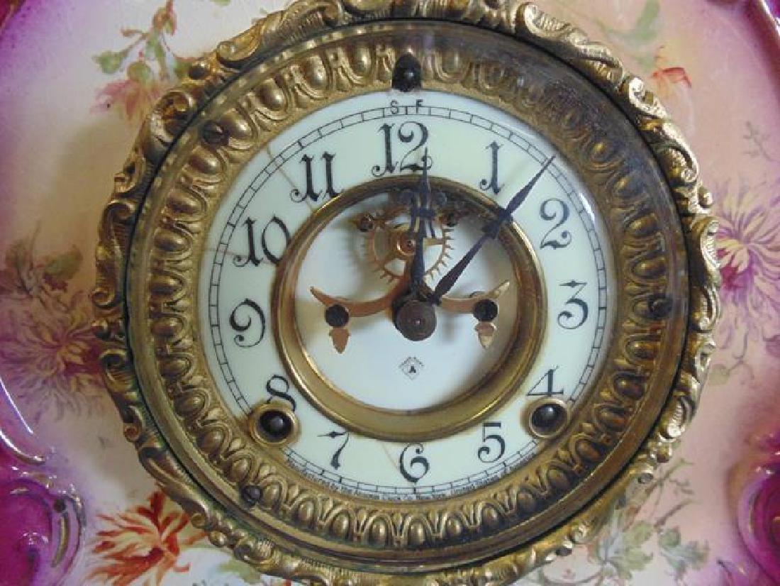 Ansonia Royal Bonn Porcelain Clock - 2