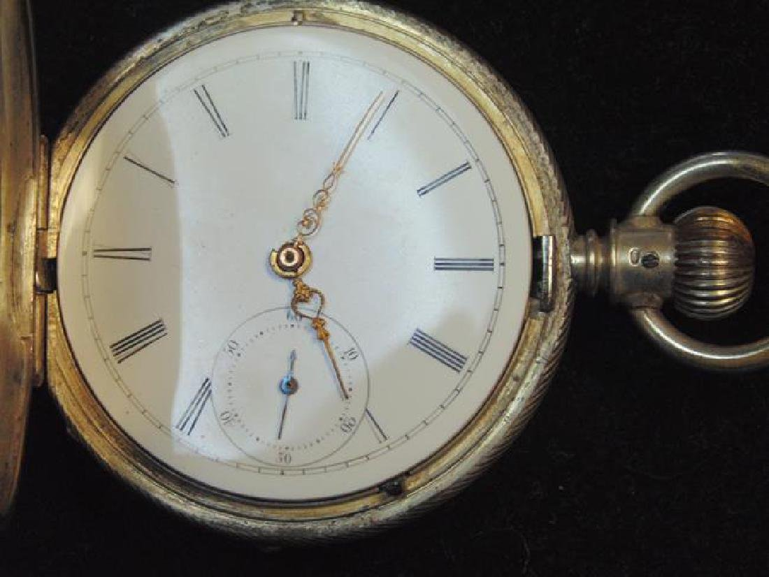 Silver Hunter Case Pocket Watch - 3