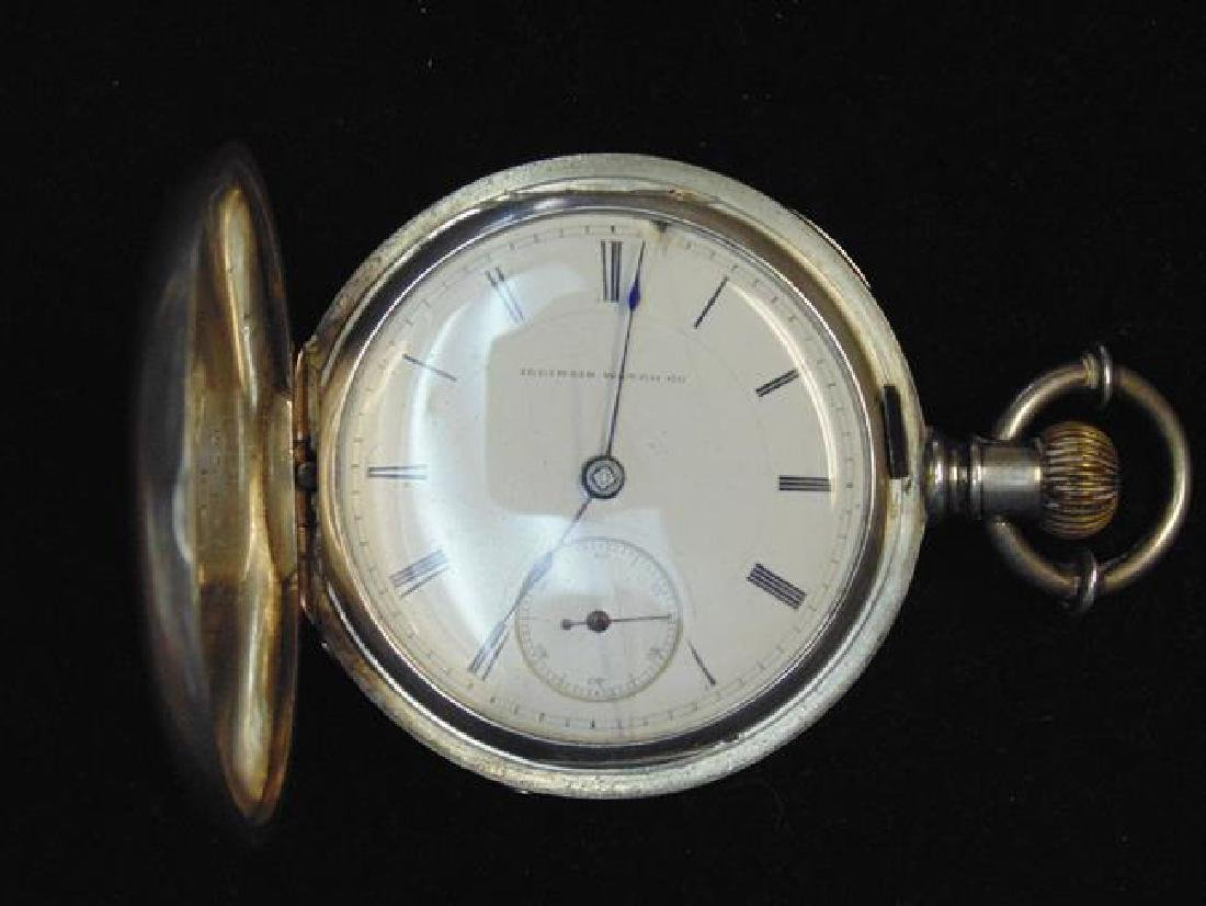 Coin Silver Illinois Pocket Watch - 2