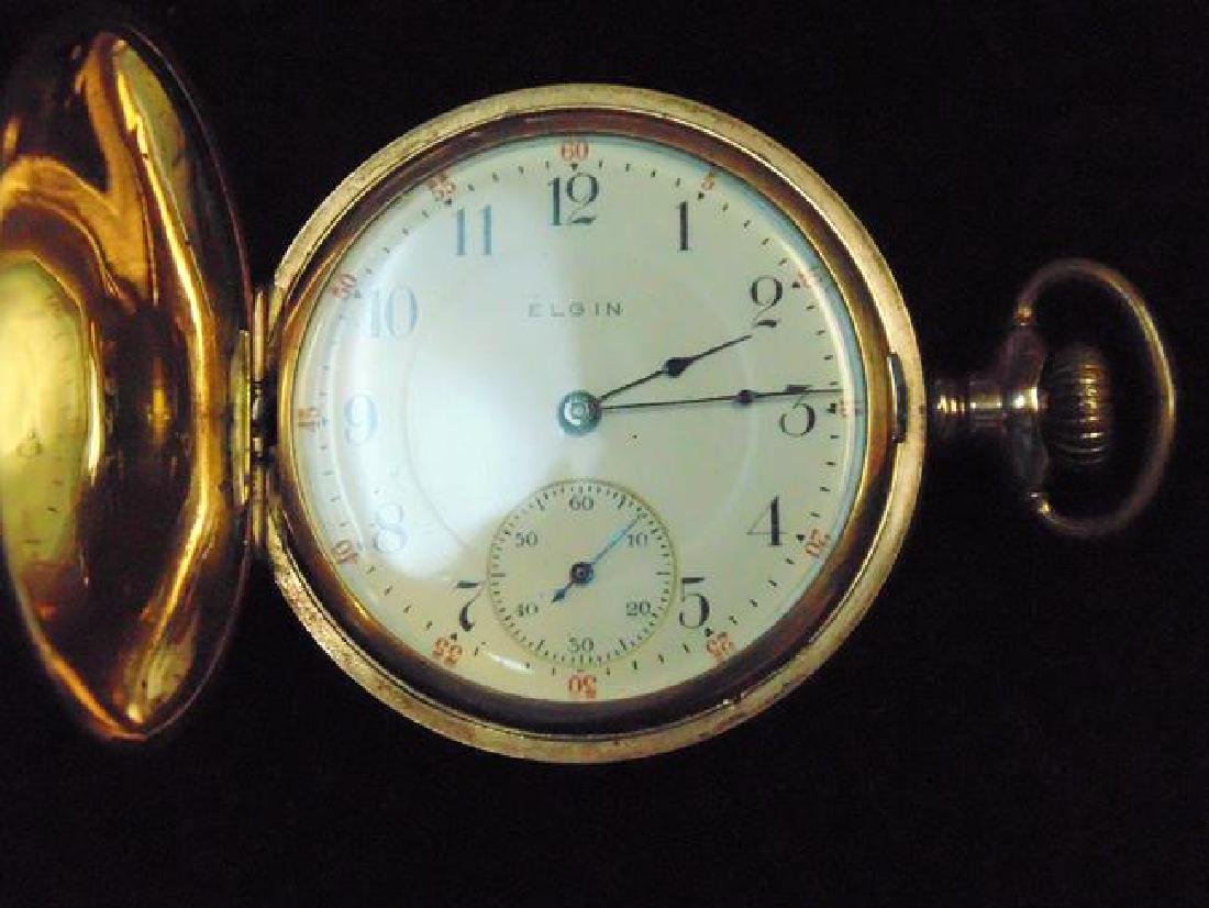Elgin Gold Hunter Case Pocket Watch - 2